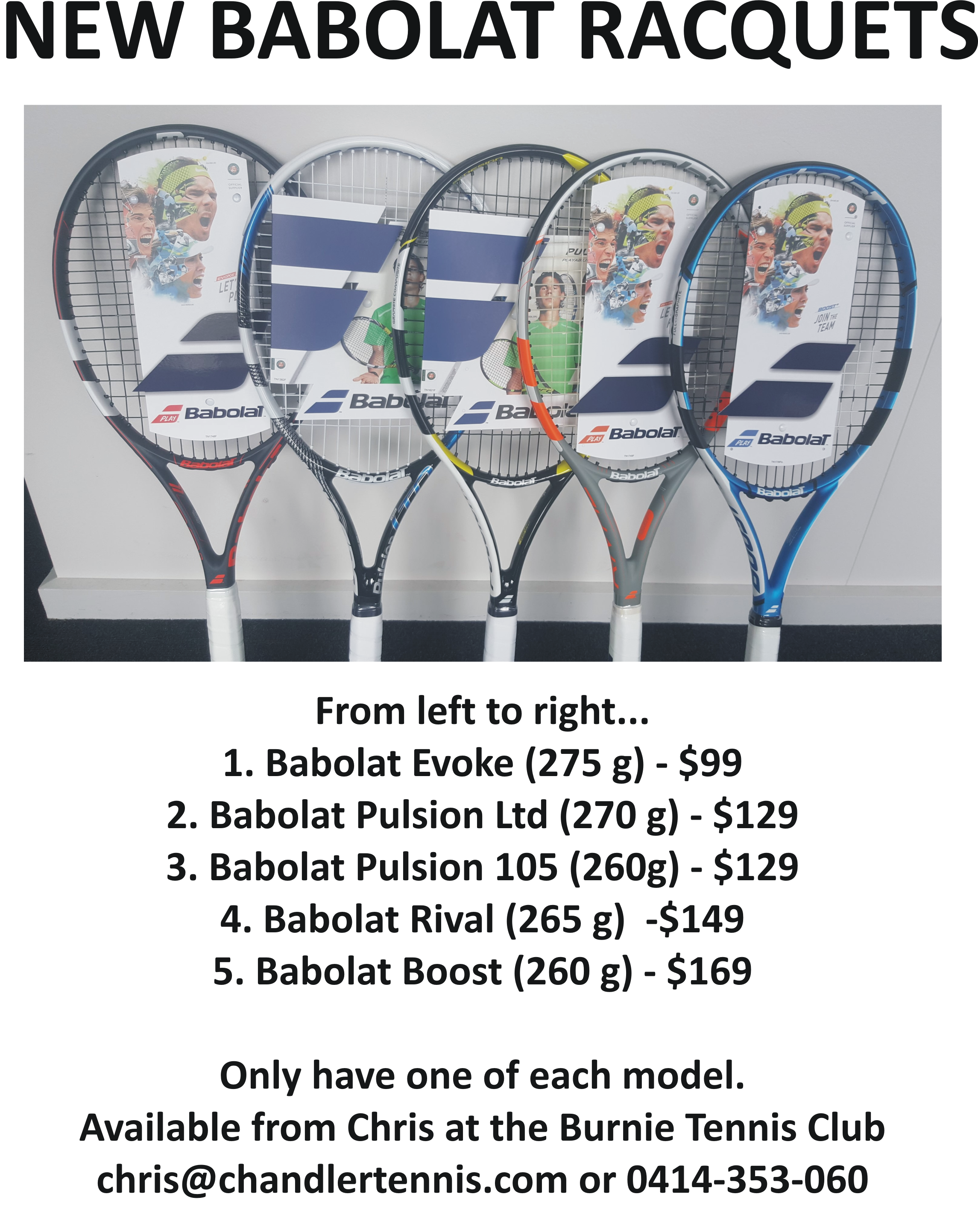 Babolat Racquets 0318
